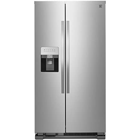 Kenmore 50043 25 cu. ft. Side-by-Side Refrigerator with Water and Ice Dispenser in Stainless Steel