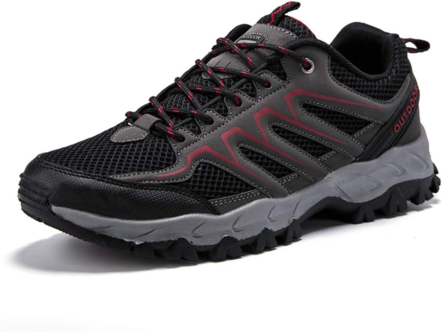 SELCNG Hiking shoes, Breathable mesh, Rubber Outsole, Hiking shoes, Walking shoes-black-43