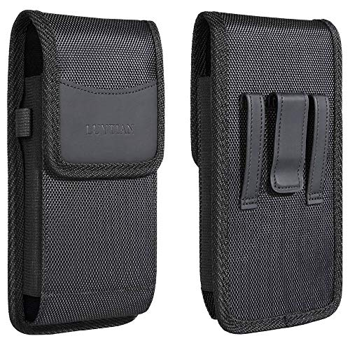 Nylon for iPhone 12 iPhone 12 Pro Max iPhone 11 iPhone 11 Pro Max iPhone X Max Holster 8 Plus 7 Plus 6S Plus Holster Leather Fit with Defender Case/Protective Case/Hybrid Armor Case/Battery Case On