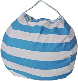 nakw88 Storage Bag  Large Basket Box for Soft Toys  Stuffed Animals Clean The Room and Put Those Critters Work for You Lake Blue