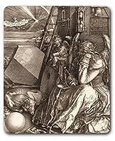 マウスパッド–Melencolia Iデューラー、Melancholia、1514、セピア( 9x 7インチ