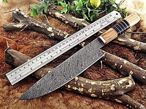 Custom handmade Damascus knife-13.75 knife Chef Luxury goods Inches Industry No. 1
