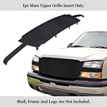 APS Compatible with 02-06 Chevy Avalanche 03-04 Silverado 1500 2500 3500 Black Billet Grille C85026J
