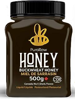 Buckwheat Honey, Pure Unfiltered Honey from the Canadian Prairies by PuroRaw, Kosher, 17.5oz