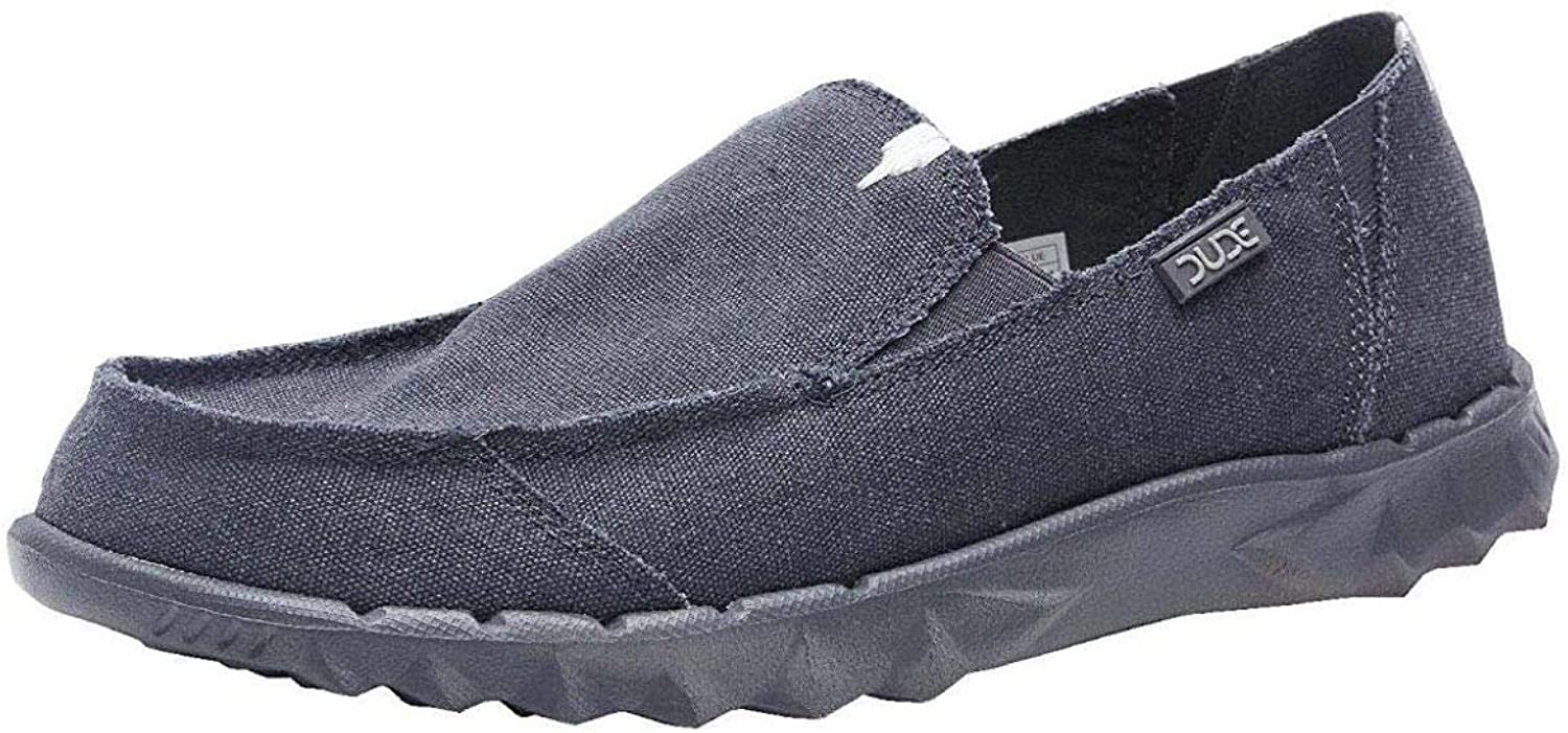 Hey Dude Farty Night bluee Roughcut Canvas Mens Slipons shoes