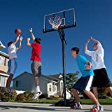 LIFETIME 48 Inch (121cm) Portable Basketball Hoop includes a slam-it rim with double compression springs and an all-weather nylon net