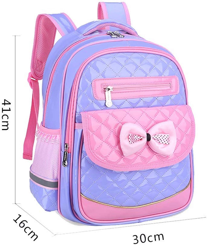 La scuola primaria di borsa, ragazza autoina impermeabile leggero,gree viola