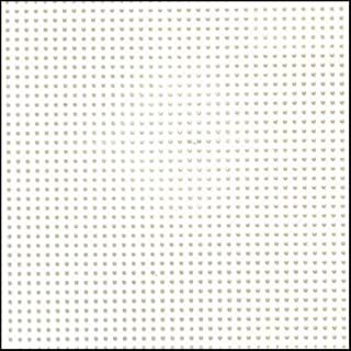Darice Perforated Plastic #14 Mesh Plastic Canvas, White - 8.25