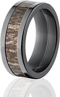 Mossy Oak Rings, Camouflage Wedding Bands, Bottomland Camo Rings