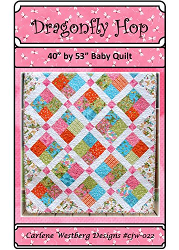 Dragonfly Hop Baby Quilt Pattern cjw-022 Carlene Westberg Designs