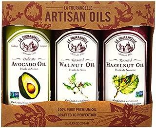 La Tourangelle Bestseller Trio of Oils - Roasted Walnut Oil, Roasted Hazelnut Oil, Avocado Oil Gift Set - 3 x 8.45 Fl. Oz.
