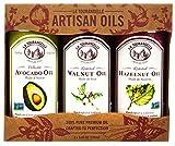 La Tourangelle, Roasted Walnut, Hazelnut, Avocado Trio of Oils, (Packaging may Vary)
