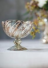 Antique Gold Fairytale Glass Floral Bowl