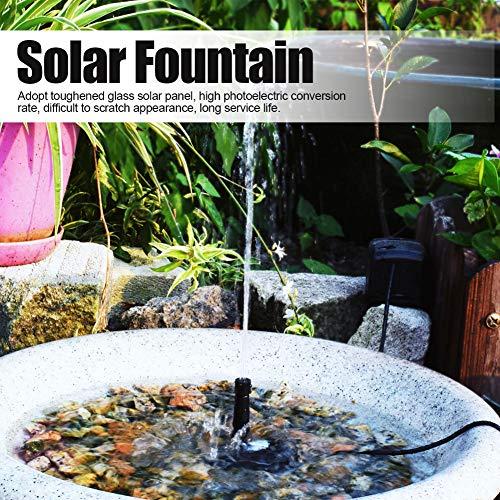 Changor Fontana Multipla dell'Acqua, Pannello Solare di Vetro dello stampaggio della Durata del Servizio e del Tasso di conversione della plastica dell'ABS 27.5x18.5 cm