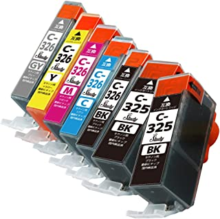 BCI-326(BK/C/M/Y/GY)+325BK×2 キヤノン用インクカートリッジ 6色+BK 計7本 マルチパック 互換インク (最新ICチップ搭載/残量検知対応/デジタル説明書付き(QR)) 対応機種: PIXUS MG8230 PIX...