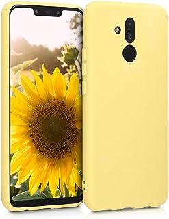 kwmobile Funda Compatible con Huawei Mate 20 Lite - Carcasa de TPU Silicona - Protector Trasero en Amarillo Mate