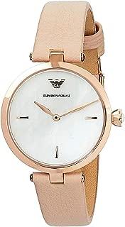 Emporio Armani Women's Quartz Watch analog Display and Leather Strap, AR11199