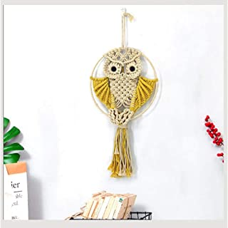CHICIEVE Owls Tapestry Boho Macrame Woven Wall Art Decor for Bedroom Apartment Living Room Nursery Gallery , 22