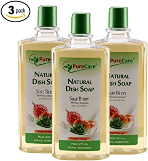 Pure Care Natural Dish Soap, Sulfate-Free Dishwashing Detergent, Septic Safe, Made