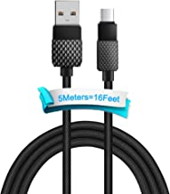 USB Type C Cable, Takya USB C to USB A Charging Cable 16ft Nylon Braided Super Long Fast Speed Charging Cord Compatible Samsung Galaxy S8/S9 Plus/S9+/Note 8/9, Google Pixel/2 XL