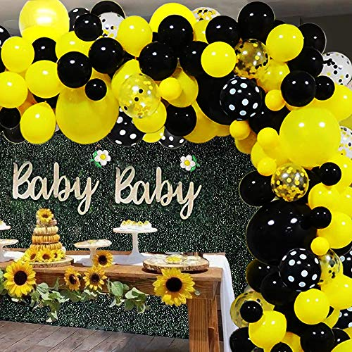 Yellow Black Balloon Garland Kit BumbleBee Balloon Garland Kit