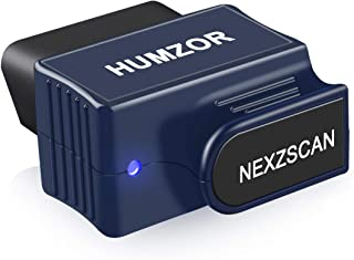 HUMZOR OBD2 Scanner Bluetooth 4.2 Enhanced OBDII Car Diagnostic Scan Tool for Check Engine Light Professional Auto Code Reader for iOS and Android