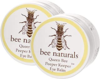Queen Bee Naturals Best Eye Balm Peeper Keeper - Eyelid Cream Reduces Crows Feet, Wrinkles & Fine Lines - Moisturizes Your Skin - Vitamin E + 10 All Natural Nutrient Oils (2 Pack)