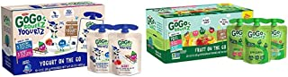 GoGo squeeZ yogurtZ, Variety Pack (Blueberry/Berry), 3 Ounce (60 Pouches) & Applesauce, Variety Pack (Apple/Peach/GIMME 5)...