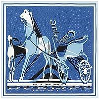 [エルメス] カレ90 シルク 大判 スカーフ ブルー Caleche Elastique Remix [並行輸入品]