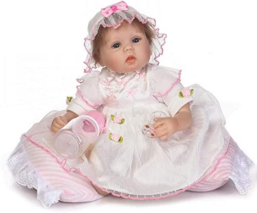 HOOMAI Sch  17 Zoll 42cm Künstliche Reborn Babypuppen Emuliert Puppe Spielzeug Baby für Neugeborene Geburtstag Geschenke Spielzeug Sch  Prinzessin Kleid