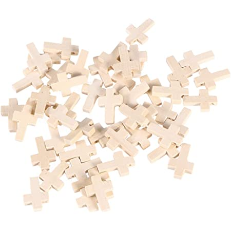 HEALLILY 50 ciondoli a croce in legno per uomo e donna gioielli accessori per artigianato