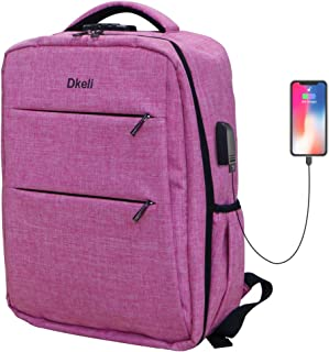 Travel Backpack, Lightweight Waterproof Backpack with USB Charging Port Fits 15.6/17 Inch