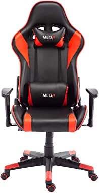 Recliner Ergonomic Gaming Chair Racing Style Office Chair (Red)