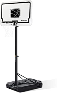 MaxKare Portable Basketball Hoops & Goals Basketball System with 44 Inch Backboard, Height Adjustable 6ft 7in-10ft for Adult Youth Kids Indoor Outdoor Use
