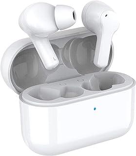 HONOR CHOICE Cuffie Bluetooth TWS auricolari impermeabili con cancellazione del rumore di doppio microfono cuffie wireless vere compatibili con Android iOS, bianco