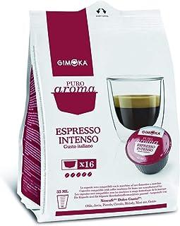 Gimoka Coffee, Pure Aroma Intense espresso, Italian Taste, Coffee Capsule Nescafé Dolce Gusto Compatible, Red, (16 Capsule...