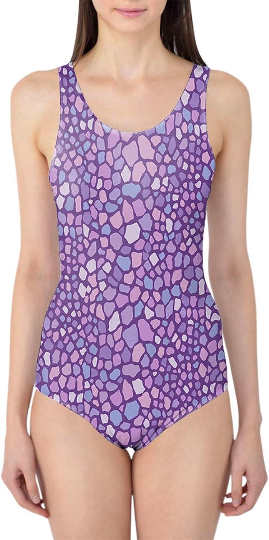 lila Monster Skin Woherren Swimsuit Badeanzug XS-3XL