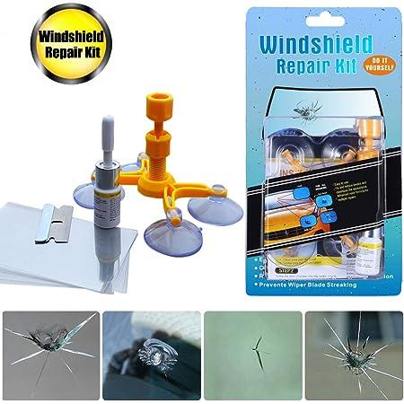 Matcc Auto Windschutzscheiben Reparaturset Werkzeug Glas Reparatur Set Windshield Repair Kit Handy Windscreen Repair Resin Für Pkw Chip Und Crack Glass Auto