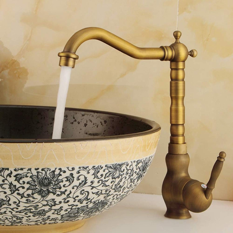 Lddpl Wasserhahn Neue Waschtischarmaturen Antik Messing Bad Wasserhahn Waschtischarmatur Drehen Einzigen Handgriff Heies Und Kaltes Wasser Mischbatterien Kran