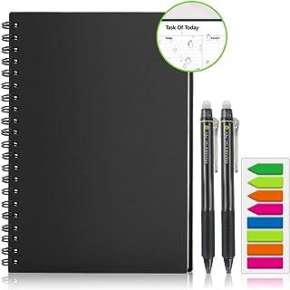 Homestec Réutilisable Carnet de planificateur, Organisateur personnel A4 Smart Notebook Effaçable Stockage en ligne(Planif...