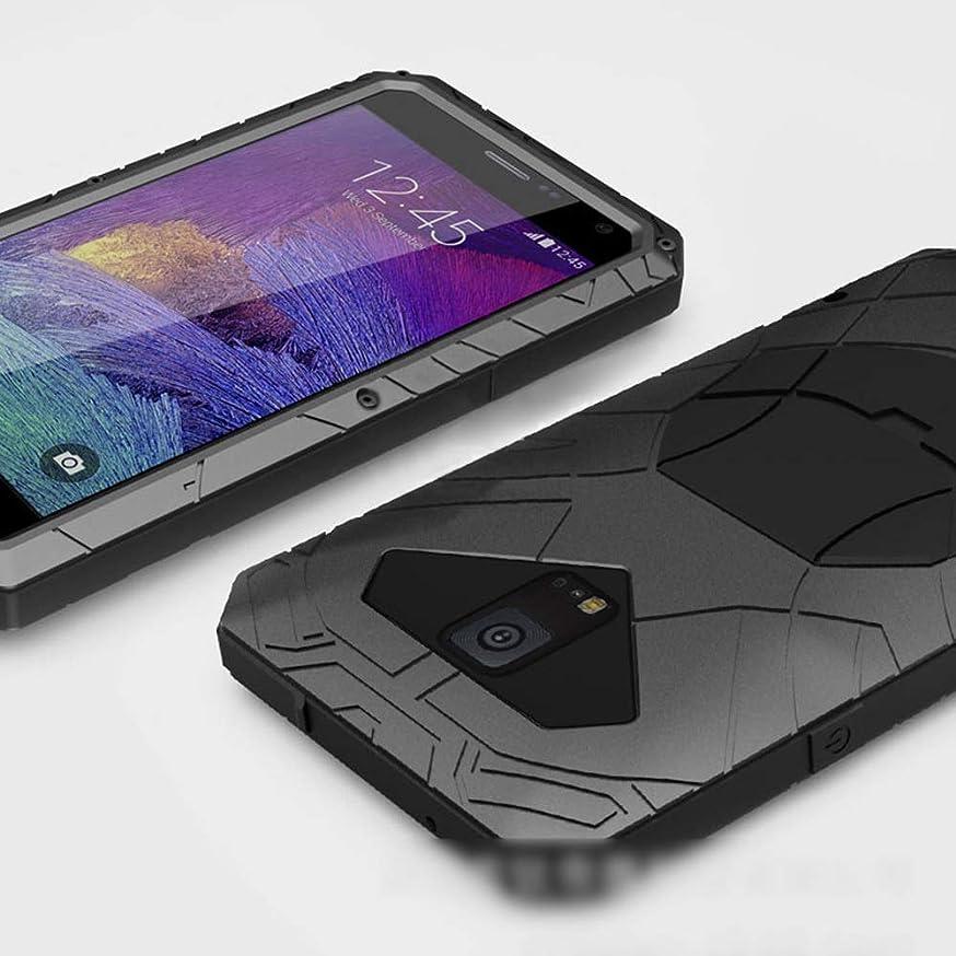 分割バラ色じゃないTonglilili 電話ケース、サムスン注3、注4、注5、S7、S5、S6のための新しい3つの抗携帯電話シェルハイエンド落下防止カバーメタルシェル電話ケース (Color : 黒, Edition : S6)