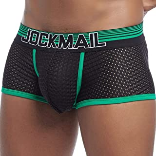 Men's Boxer Ice Silk Breathable Youth Panties Mesh Quick-Drying Men's Underwear Suitable for Friends and Lovers 4 Pieces
