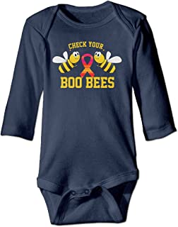 Check Your Boo Bees Long Sleeve Infant Bodysuits