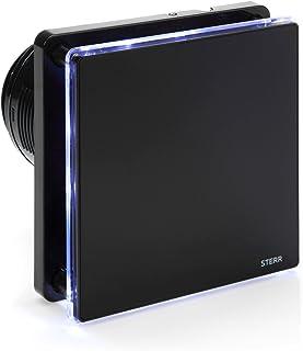 STERR - Negro extractor de baño con retroiluminación LED