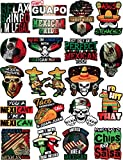 Mexican Stickers - Calcomanías Mexicanas – 100% Vinyl Stickers for Adults - Funny Decals for Hardhat, Construction, Laptop, Water Bottle or Lunchbox. Pegatinas cascos. Calcomanias para Autos