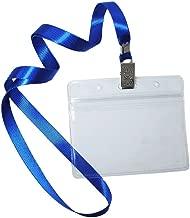 enfermera color Horizontal protectores para nombres ni/ños Lote de 50 soportes para insignias con cuello y cord/ón rojo giratorio con gancho en J impermeable escuela