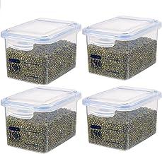 Nfudishpu Storage Box Sealed Grain Food Storage Container Set Kitchen Nuts Milk Powder Snacks Transparent Plastic Nfudishp...