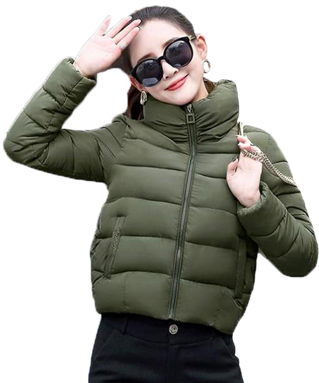 AIJUAN レディース ダウンコート ショート丈 長袖 ゆったり 大きいサイズ 通学 学生 冬服 カジュアル 通勤 スリム フード付き スポーツ 防寒 無地 綿入れ アウター 軽量 ファッション
