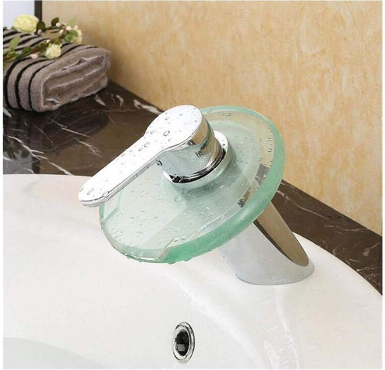 Chrome-Plated Adjustable Temperature-Sensitive Led Faucet The Bathroom Sink Glass Mixer Tap Bathroom Basin Faucet Brass Chromed