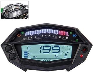 Teabelle Tacómetro de Motocicleta Medidor de Horas Indicador de Engranaje del Velocímetro Digital Piezas de Motocicleta Aptas para Kawasaki Z1000